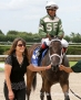 Scandalous Act (FL) heads to the winner's circle with jockey Eduardo Nunez and trainer Kathleen O'ConnellIMG_SA3510B